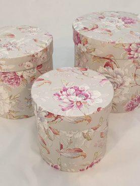 Set 3 cutii decorative (Multicolor/Roz) (3)-3