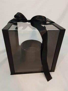 Cutie decorativa cu capac de acril (negru)(18)-1