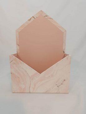Cutie decorativa plic 20/30 (alb)