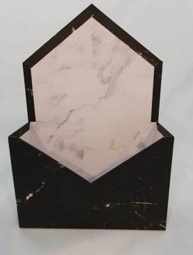 Cutie decorativa plic 20/30 (negru)