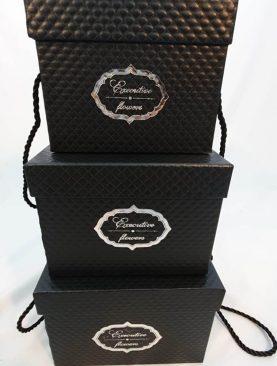 Set 3 cutii decorative (negru) (3)-11