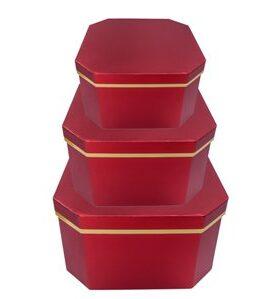 Set 3 cutii decorative (rosu)(1)-1