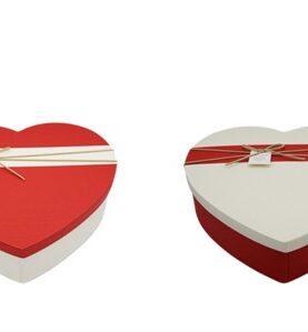 Set 5 cutii decorative inima 3-9