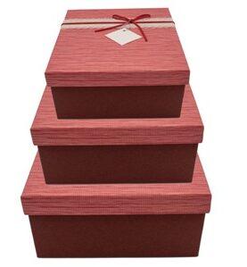 Set 3 cutii decorative (rosu) (22)-1 2 3 4