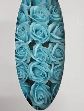 Cutie flori sapun albastru