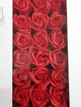 Cutie flori sapun rosu