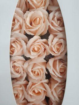 Cutie flori sapun roz pal