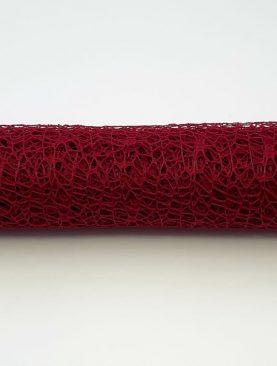 Sul plasa dantela - 5m rosu inchis