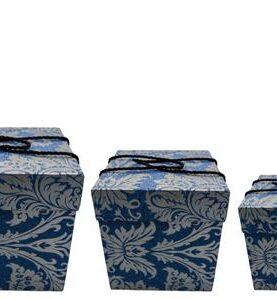 Set 3 cutii decorative (Albastru/Gri) (3)-1