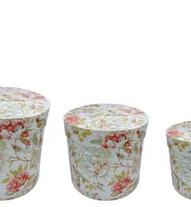 Set 3 cutii decorative (Multicolor/Portocaliu) (3)-3