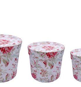 Set 3 cutii decorative (Multicolor/Rosu) (3)-3
