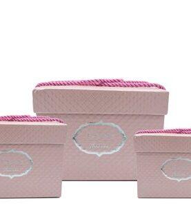 Set 3 cutii decorative (roz )(3)-11