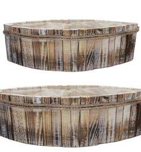 Set 2 cutii de lemn tip cos