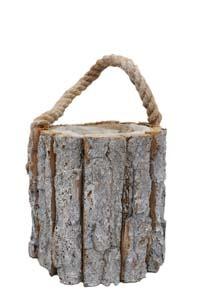 Cutie din lemn in format trunchi de copac